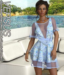 VERSUS- dForce Abby Holiday Dress Outfit for Genesis 8 Female(s)