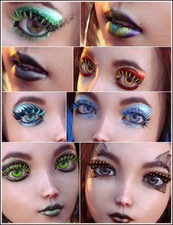 Extreme Closeup Plumes Geoshell Makeups for Genesis 8 Female(s)