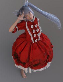dForce European Style Dress for Genesis 8 Female(s)
