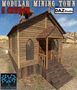 Modular Mining Town: 5. Church for Daz