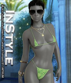 InStyle- dForce Spring String Bikini for Genesis 8 Females
