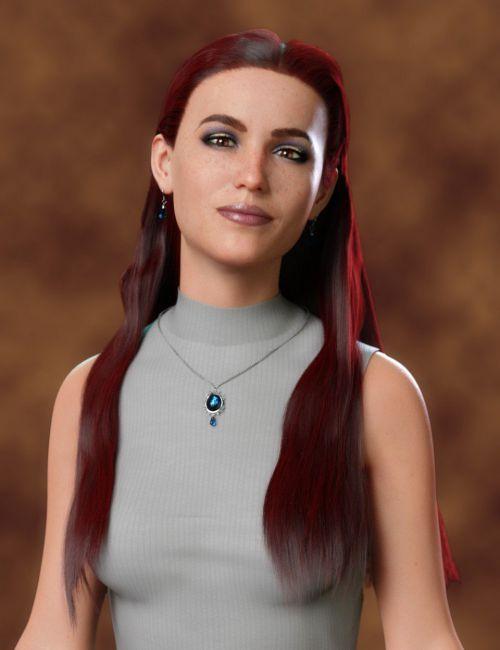 dForce Tucked Long Hair for Genesis 8 Females