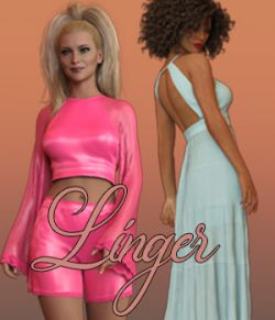 Linger dForce outfit for Genesis 8 Females