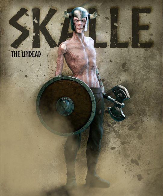 Skalle the Undead for Genesis 8 Male