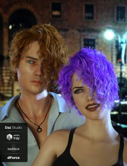 Luc Hair for Genesis 8