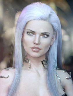 dForce EXzela Long Hair for Genesis 8 Female(s)