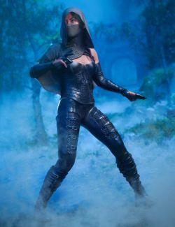 dForce Crimsoneye Outfit for Genesis 8 Female(s)