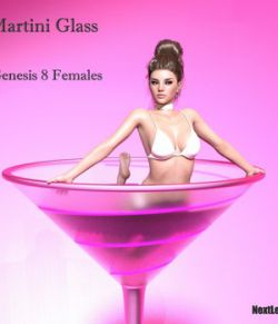 Burlesque Martini Glass for Genesis 8 Females