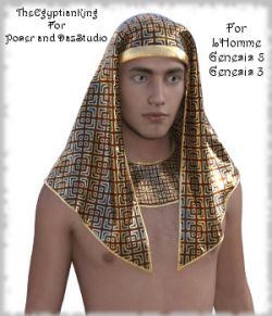 The Egyptian King- Dynamic and dForce for L'Homme, Genesis 8 and Genesis 3