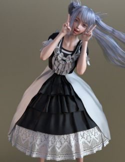 dForce French Style Dress for Genesis 8 Female(s)