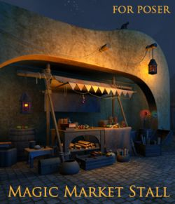 Magic Market Stall for Poser