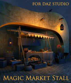 Magic Market Stall  for Daz studio