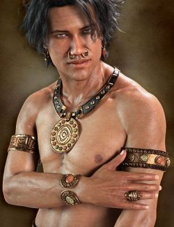 Chieftain Jewelry for Genesis 8 Male(s)