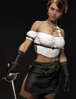 dForce Arvine Sword Outfit for Genesis 8 Female(s)
