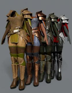 dForce Shadow Guard Outfit Textures