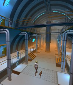 Sci Fi hall for Daz studio