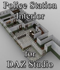Police Station Interior for DAZ Studio
