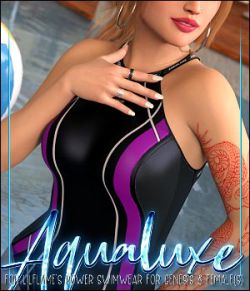 Aqualuxe for Power Swimwear for Genesis 8 Female(s)