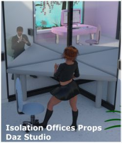 Isolation Offices Props for Daz Studio