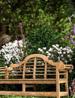 Bench in an English Garden