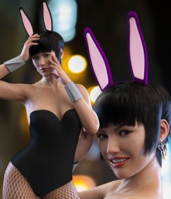 Cutie Bunny Outfit for Genesis 8 Female