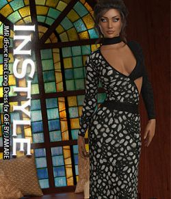 InStyle- JMR dForce Ines Long Dress for G8F