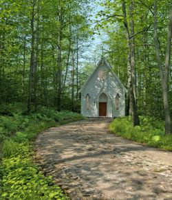 MS20 New England Church for DAZ Studio