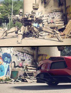 Graffiti Junkyard - Photo Scanned Background
