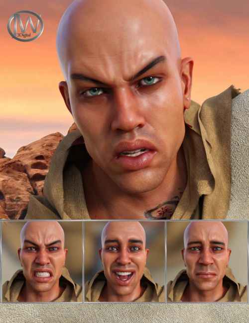 Priest of the Sun Expressions for Genesis 8 Male and Ashan 8
