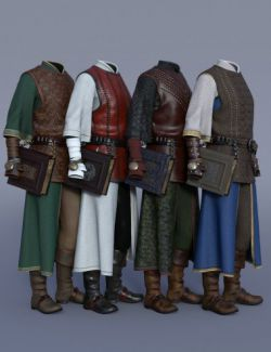dForce Cleric Outfit Textures