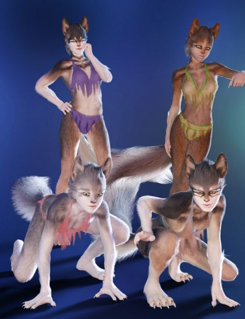 She Wolf with dForce Hair for Genesis 8 Female