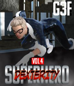 SuperHero Dexterity for G3F Volume 4