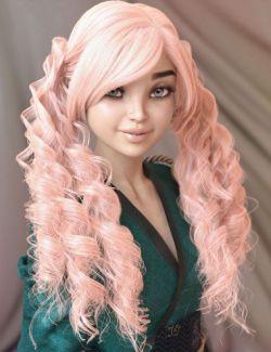 dForce Ophelie Hair for Genesis 3 & 8 Female(s)