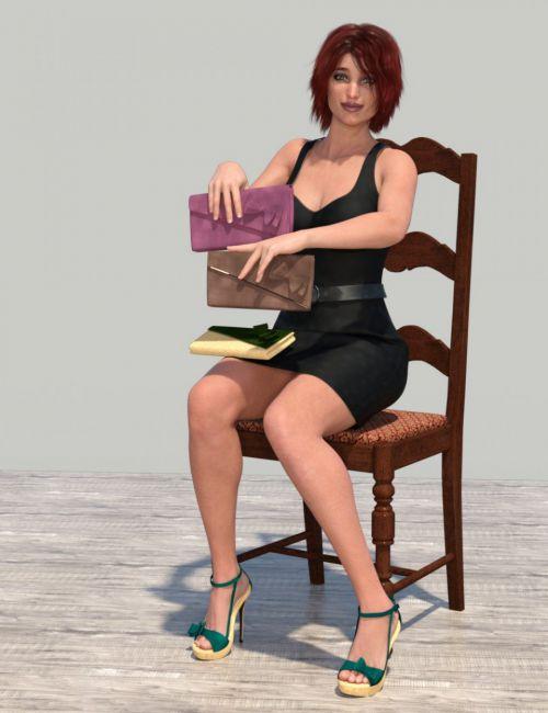 Juna High Heels and Clutch Textures