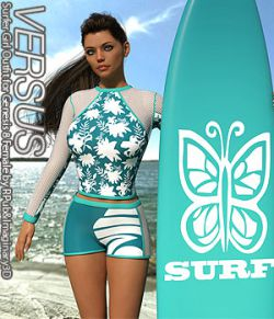 VERSUS- Surfer Girl Outfit for Genesis 8 Female