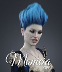 Monicia Character and Hair for Genesis 8 Female