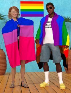 dForce Pride Flags for Genesis 8