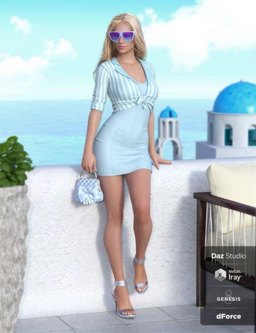 dForce Meet Me at Noon Outfit for Genesis 8 Female(s)