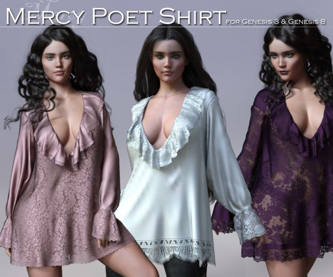 Mercy Poet Shirt for G3 and G8 Females