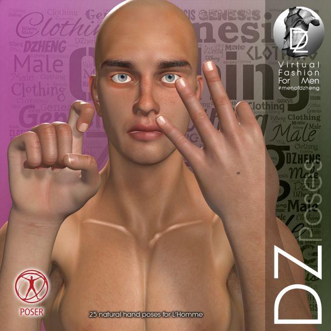 DZ LH Hand Gestures 2 for L'Homme