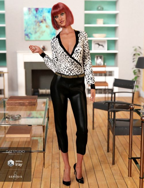 dForce Office Chic Outfit for Genesis 8 Female(s)
