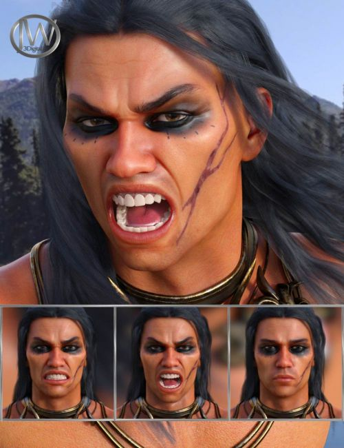 Enraged - Expressions for Genesis 8 Male and Scar 8