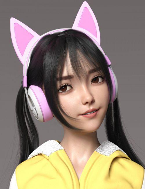 Shizuka HD Character and Hair for Genesis 8 Female