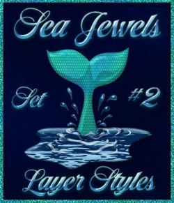 Sea Jewels Set 2 PS Layer Styles with Free Bonus