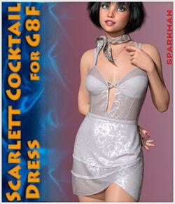 dForce Scarlett Cocktail Dress for Genesis 8 Females