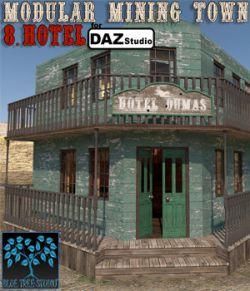 Modular Mining Town: 8. Hotel for Daz Studio