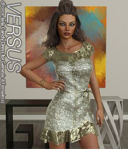 VERSUS - dForce Jaila Candy Dress for Genesis 8 Females