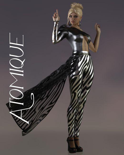 Atomique dForce pantsuit for Genesis 8 Females
