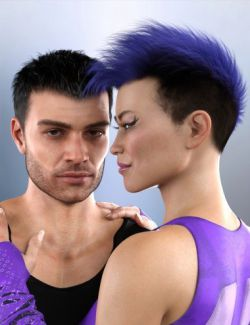 dForce Togatta Hair for Genesis 8