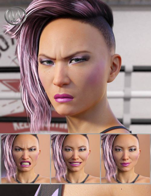 Fighter - Expressions for Genesis 8 Female and Kayo 8